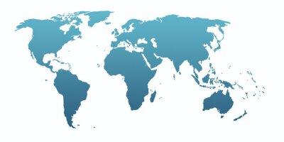 Adesivo blue world map