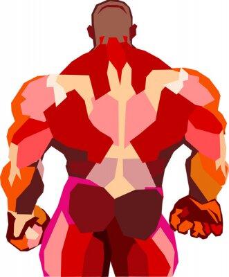 Adesivo Bodybuilder muscolare in una palestra