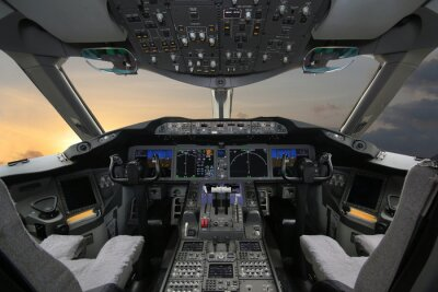 Adesivo Boing 787 Dreamliner, della cabina di guida