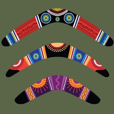 Adesivo Boomerang con il disegno aborigeno