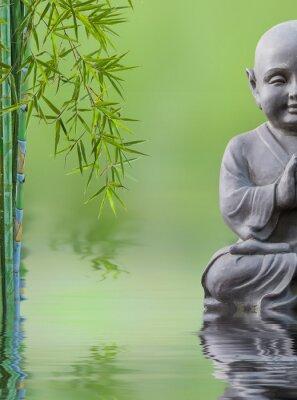 Adesivo bouddha enfant et bambou aquatique, composizione zen
