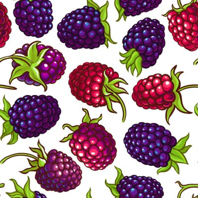 Adesivo boysenberry vector pattern
