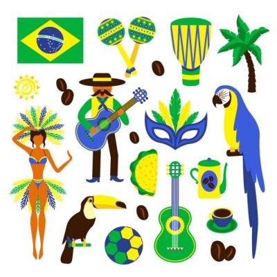 Adesivo Brasile insieme decorativo