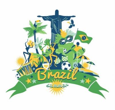 Adesivo Brasile sfondo