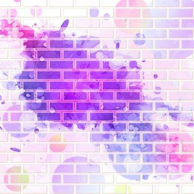 Adesivo brick wall, graffiti