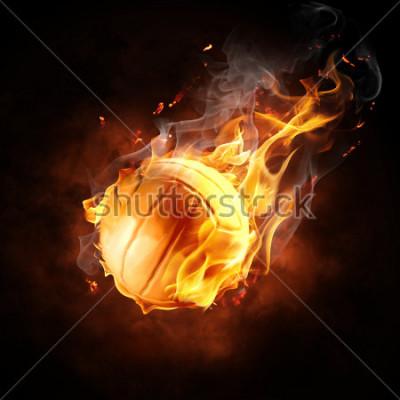Adesivo bright flamy symbol on the black background
