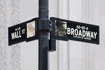 Adesivo Broadway uns Wall Street a New York