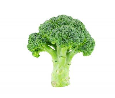 Adesivo Broccoli isolare su bianco con percorso di clipping