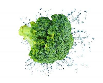 Adesivo Broccoli splash isolated