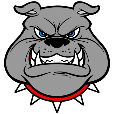 Adesivo Bulldog Growl