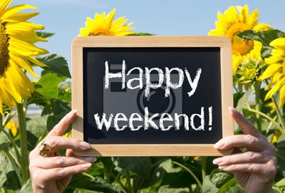 Buon fine settimana! • adesivi a muro timeout, venerdì, domenica |  myloview.it