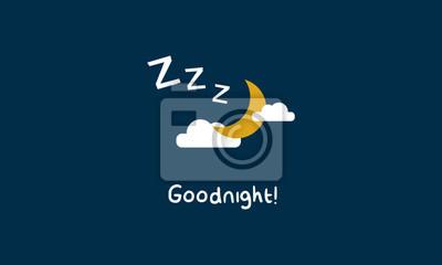Buona Notte Nuvole Di Luna E Le Stelle Z è Sleeping Arte