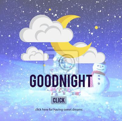 Buonanotte Sweet Dreams Felicità Concetto Sollievo Sonno Adesivi Per