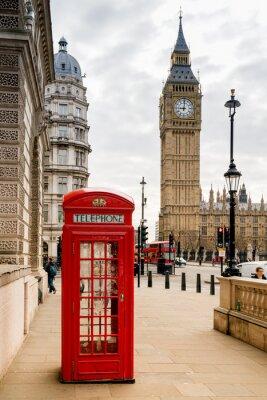 Adesivo Cabina telefonica di Londra e Big Ben