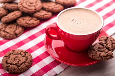 Adesivo caffè e biscotti