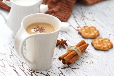 Adesivo Caffè Latte e biscotti al cioccolato