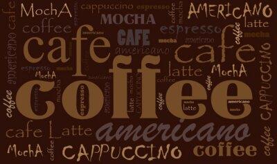 Adesivo Caffè sfondo
