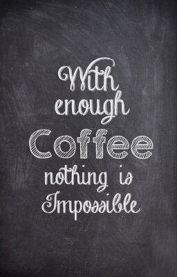 Adesivo Caffè un'offerta scritta con il gesso su una lavagna