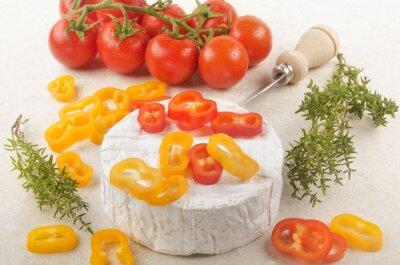 Adesivo camembert con paprika, pomodoro e timo