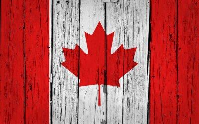 Adesivo Canada Flag Grunge Background