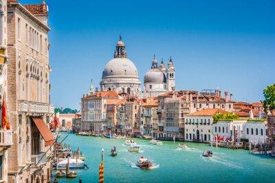 Adesivo Canal Grande con la Basilica di Santa Maria della Salute, Venezia, Italia