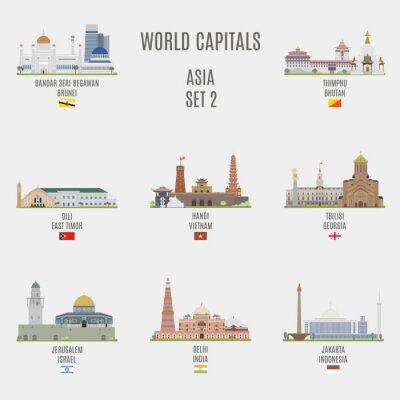 Adesivo capitali del mondo