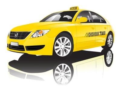 Adesivo Car Cab taxi pubblico Shiny Performance Concept