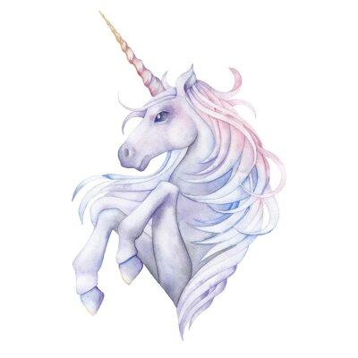 Adesivo Carino acquerello unicorno