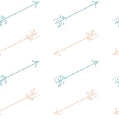 Adesivo carino pastello di colore rosa frecce blu vettore modello senza soluzione di continuità sfondo illustrazione