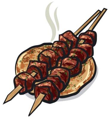 Adesivo carne kebab