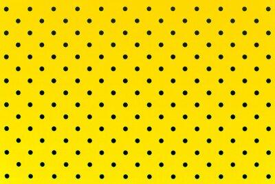 Adesivo carta da parati puntini neri in colore di sfondo giallo