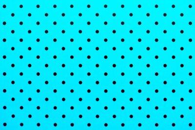 Adesivo carta da parati puntini neri in colore di sfondo turchese