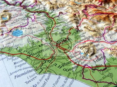 Cartina Topografica Del Lazio.Carta Geografica Del Lazio Adesivi A Muro Bracciano Fiumicino Tivoli Myloview It
