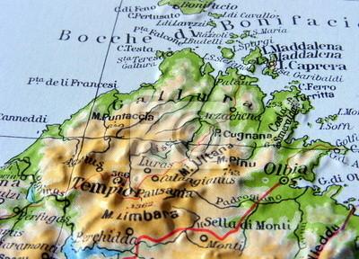 Immagini Della Cartina Geografica Della Sardegna.Carta Geografica Della Sardegna Adesivi A Muro Nuoro Alghero Sassari Myloview It