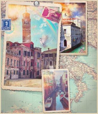 Adesivo Cartoline e collage di Venezia City Vintage