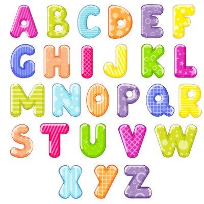 Adesivo cartone animato alfabeto