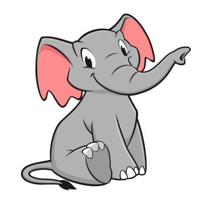 Adesivo Cartoon Elephant