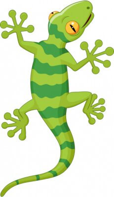 Adesivo Cartoon gecko