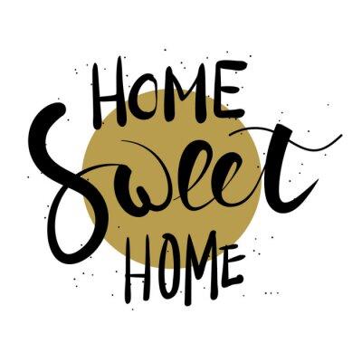 Adesivo Casa dolce casa lettering a mano.