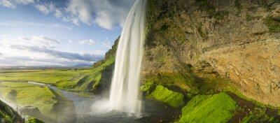 Adesivo cascata che cade dal cielo in Islanda