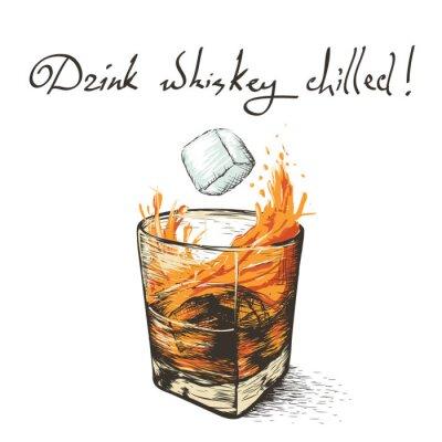 Adesivo cascate di ghiaccio in whisky