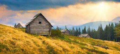 Adesivo case di legno ucraino