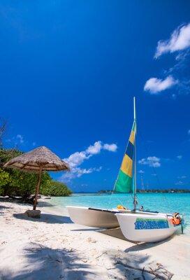Adesivo Catamaran over a wonderful tropical beach
