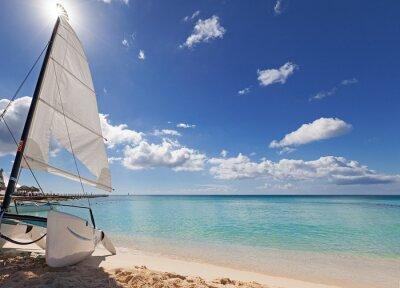 Adesivo Catamarano sulla spiaggia