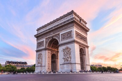 Adesivo Champs-Elysees al tramonto a Parigi