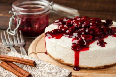 Adesivo cheesecake ciliegia