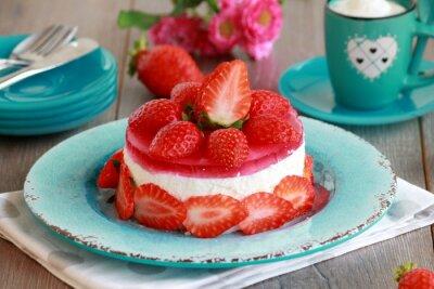 Adesivo cheesecake con frutta