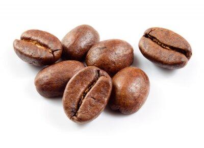 Adesivo Chicchi di caffè isolati