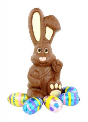 Adesivo Chocolate Easter Bunny e uova