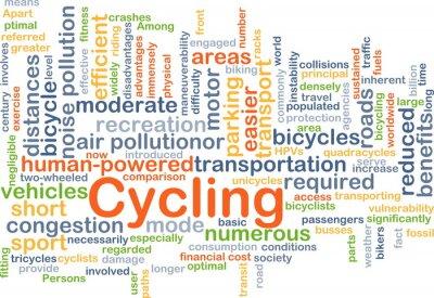 Adesivo Ciclismo, fondo, concetto